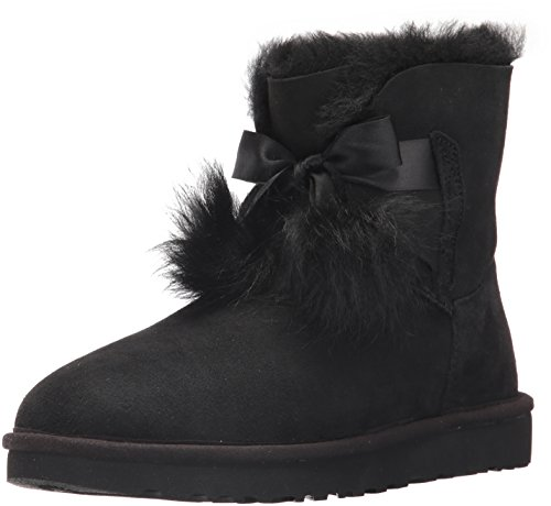UGG Women's Gita Combat Boot, Black, 8 M US by UGG