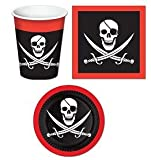 Pirate Themed Table Ware Set/Pirate Plates/Pirate Napkins/Pirate Beverage Cups/Pirate Party Supplies