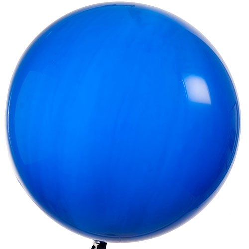 Qualatex Round Latex Giant Balloon (Pack of 2), 3', Sapphire Blue Wholesale Helium Balloons