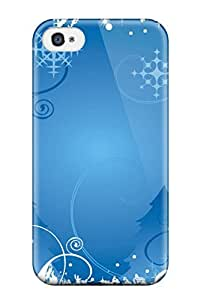 5c Scratch-proof Protection Case Cover For Iphone/ Hot Christmas Decoration Blue Ballon Decorating Phone Case
