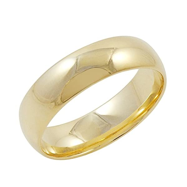 Mens-10K-Yellow-Gold-6mm-Comfort-Fit-Plain-Wedding-Band-Available-Ring-Sizes-8-12-12