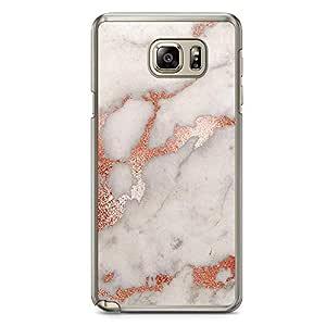 Samsung Note 5 Transparent Edge Phone Case Gold Marble Phone Case Dark Phone Case Black Gold Phone Case Orange Liquid