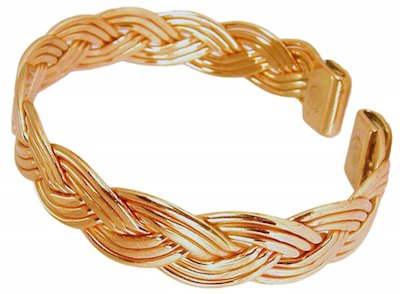 - Womens Solid Copper Magnetic Bracelet Eve with Gift Box (6.75)