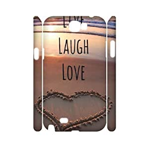 Live Laugh Love Personalized 3D Cover Case for Samsung Galaxy Note 2 N7100,customized phone case ygtg577493