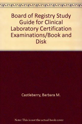 Board of Registry Study Guide for Clinical Laboratory Certification Examinations/Book and Disk