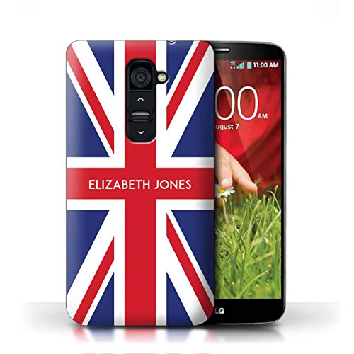 Personalized Custom National Nation Flag Case for LG G2 / Great Britain/British Design/Initial/Name/Text DIY Cover (Union Lg For Cover Jack Phone G2)