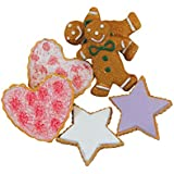 The Queen's Treasures Bakery Collection 6pc 18-Inch Doll Cookies. Gingerbread, Heart and Star Shaped Frosted Cookies For 18-Inch American Girl® Doll Furniture and Play Food Accessories.