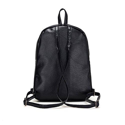 Leather Zipper Shopping Fashion For Backpack Pu Espeedy Bag Bags Teen Travel School Women Girls zPEx6n6C