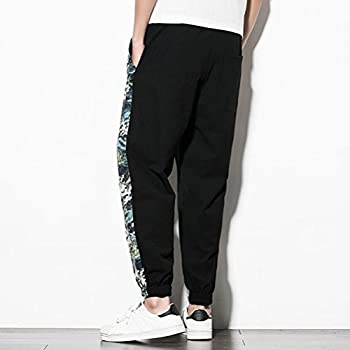 Zhuhaitf Casual Hippie Baggy Harem Pants for Mens Breathable Drop Crotch Pants