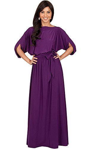 Koh Koh Womens Long Flowy Casual Short Half Sleeve With Sleeves Fall