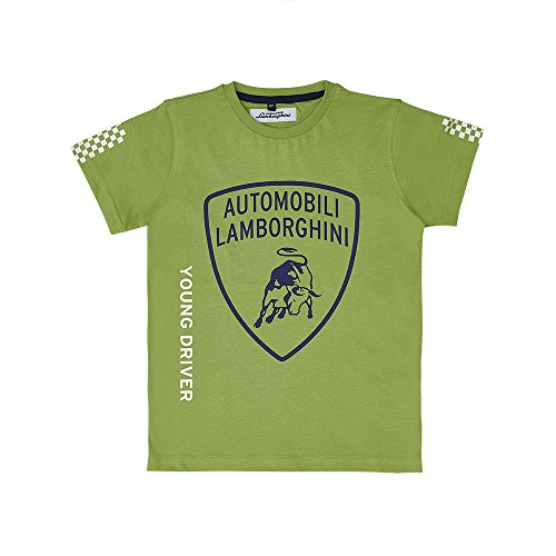 LAMBORGHINI Big Shield Kid's T-Shirt Green (4 Years) (Lamborghini Shirt)