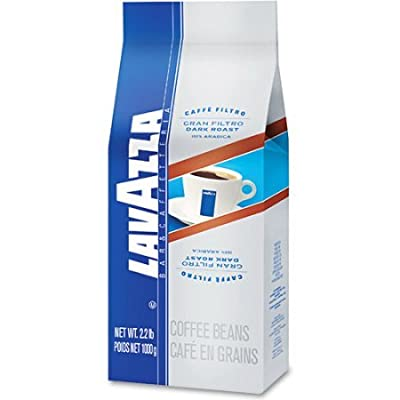 Lavazza Whole Bean Coffee, Gran Filtro Dark Roast Coffee, 2.2-Pound Bag (Pack of 2)