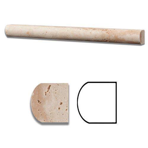 Ivory Travertine Honed 1 X 12 Dome Liner Trim Molding - Standard Quality - BOX of 15 PCS by Oracle