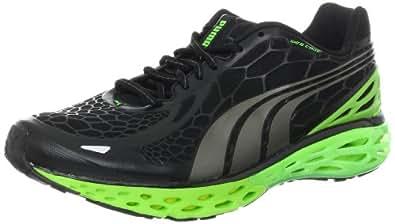 PUMA Men's BioWeb Elite Running Shoe Running Shoe,Black/Puma Silver/Fluorescent Yellow,10 D US