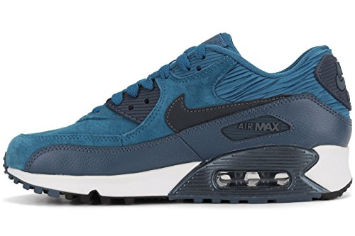 Max Donna Air Corsa Scarpe 90 da Blu Marino Leather Nike qHOf5SPP
