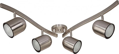 Nuvo Lighting TK382 R30 Gu24 Track Kit, Brushed ()