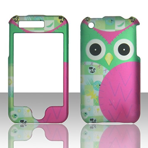 2D Night Bird Apple Iphone 3G, 3GS AT&T Case Cover Hard Phone Case Snap-on Cover Rubberized Frosted Matte Surface Hard Shells