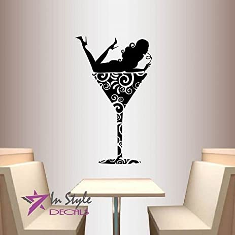 Amazoncom Wall Vinyl Decal Home Decor Art Sticker Girl In - Vinyl wall decals home party