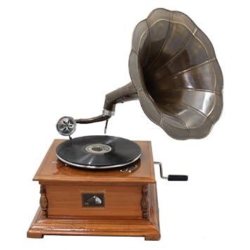 Amazon.com: Antique réplica RCA Victor Fonógrafo Gramófono ...