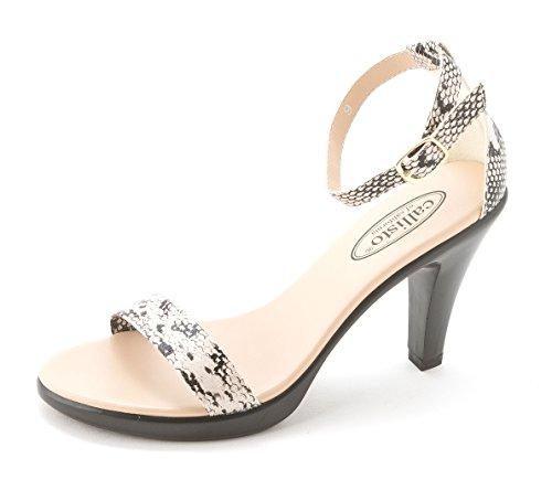 Callisto - Sandalias de vestir para mujer beige (Natural Snake)