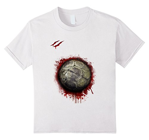 Soccer Player Halloween Costume For Girls (Kids zombie soccer player tshirt Christmas 2017 8 White)
