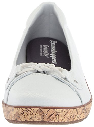 Keds Women's Stretch Wedge Twill Sneakers Grasshoppers White Lily vTvqw68