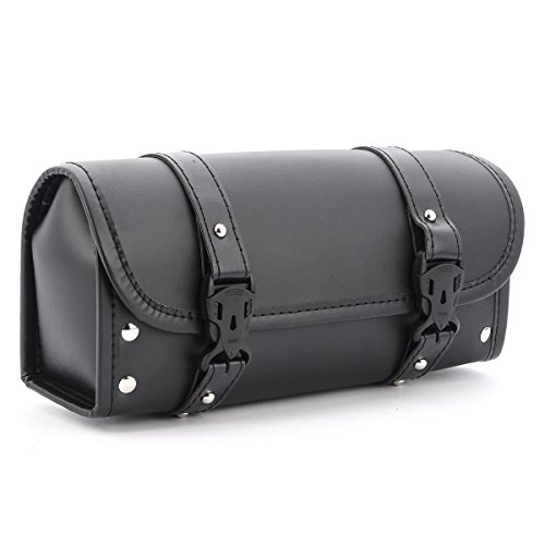 - NBOMOTO Motorcycle Tool Bag Saddlebags PU Leather Storage Tool Pouch Black