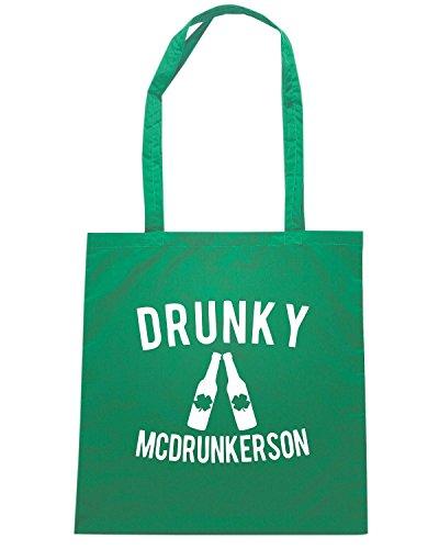 T-Shirtshock - Bolsa para la compra TIR0047 drunky mcdrunkerson dark tshirt Verde