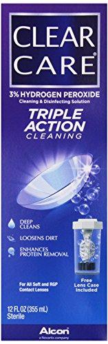 Soins de CIBA Vision Effacer Nettoyage et désinfection Solution, 12 fl oz (355 ml)