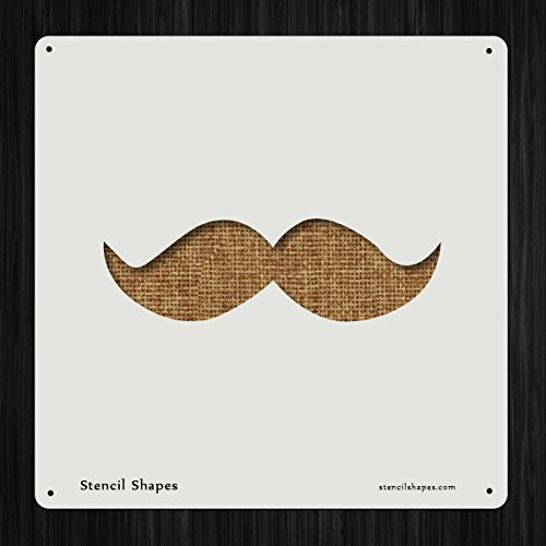 Mustache Face Gentleman Hair Male Style 13976 DIY Plastic Stencil Acrylic Mylar - Male Shapes Face