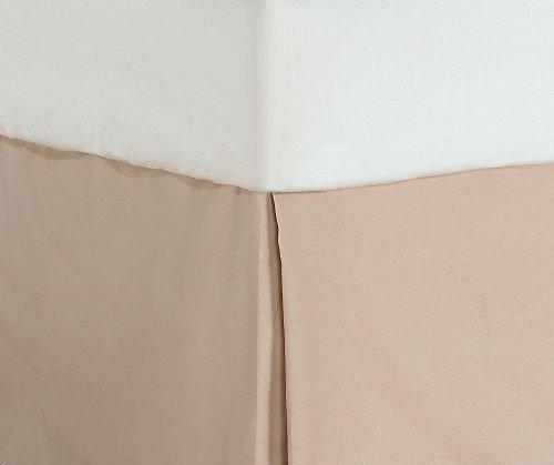 Divatex 200-Thread Count Twin Bed Skirt/Dust Ruffles, Tan