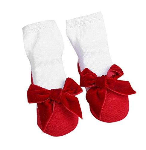 Hot sale! baby socks newborn cotton children socks girls infant socks baby clothing kids meias infantil ld ourlove (0-1 year, Red Bow)