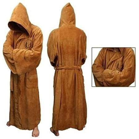 Brown Star Wars Jedi Hooded Bathrobe