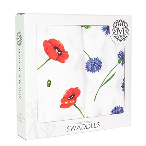 Swaddle Blankets Cornflowers Margaux May