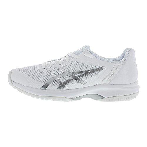 Femme court White Pour De Gel Chaussures En silver Asics Sport XxC0wgRfq