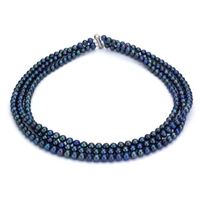 3 Rows Cultured Pearl Necklace - 2
