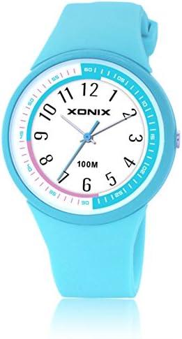 子供腕時計学生女の子男の子防水クォーツwatch-e