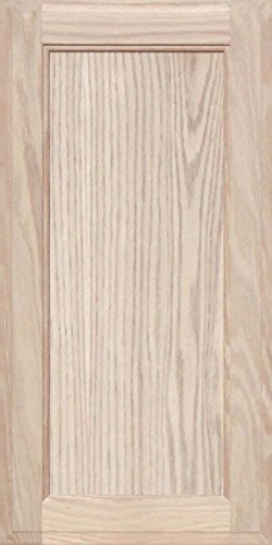 Oak Front Door (Unfinished Oak Square Flat Panel Cabinet Door by Kendor, 24H x 12W)
