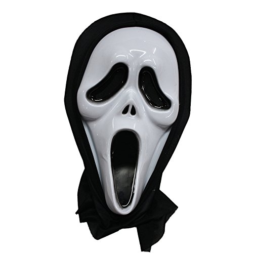 Cousins Halloween Scream Skull Horror Ghost Screaming Skeleton Mask Make up The Party | Robust Plastic Material | Realistic (Halloween Makeup Ideas Scary)