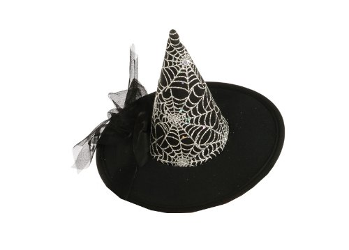 Rubie's Womens Mini Spiderweb Witch Hat, Black, One Size -