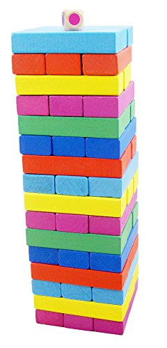 Etmact Wooden Block Stacking Toy For Kids-48 pieces