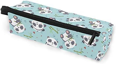 Estuche portátil para gafas, diseño de panda de dibujos animados, caja suave para mujeres y niñas, con cremallera, soporte para gafas de sol, bolsa de almacenamiento de bambú: Amazon.es: Oficina y papelería