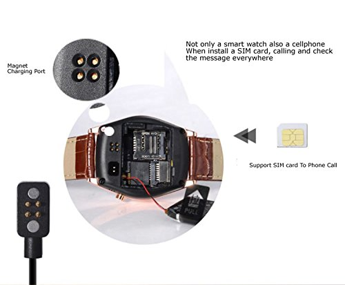Amazon.com: Wireless Multi-idiomas Reloj Inteligente Smartwatch podómetro/ Monitor de sueño/ Alarma/ Calendario con la Pantalla Táctil Compatible con ...