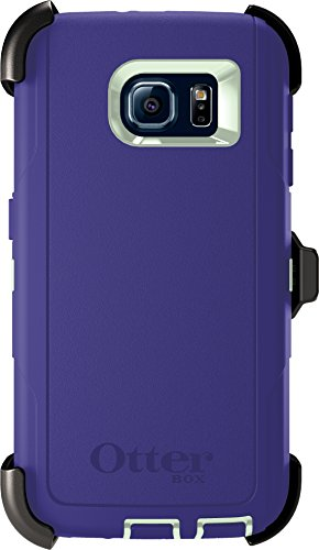 Otterbox Defender Series Case for Samsung Galaxy S6, Retail Packaging, Green/Liberty Purple (Otter Box Green)