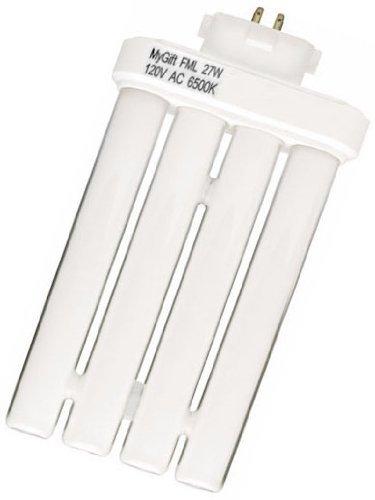 27 Watt MyGift Fluorescent Linear Quad Replacement Light Bulb for Light of America Floor Lamp or Desk Lamp
