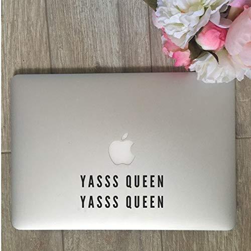 TiuKiu Yasss Queen Yasss Queen, Yasss Queen Decal, Yass Queen Sticker, Laptop Stickers, Laptop Decal, MacBook Decal, Car Decal, Vinyl Decal