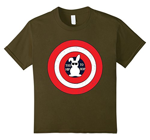 [Kids Easter's Day Funny Bunny Superhero Style T-Shirts for Kids 8 Olive] (Super Nerd Costume)
