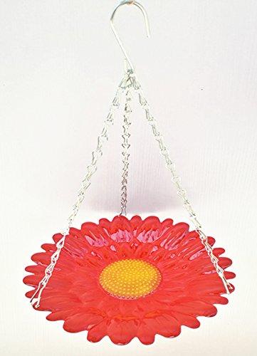 Yongli large red flower hanging bird bath metal by Yongli