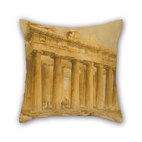 - Oil Painting Lusieri Giovanni Battista - The Parthenon From The Northwest Pillow Cases 18 X 18 Inches / 45 By 45 Cm Best Choice For Kitchen,monther,couch,pub,study Room,car Seat With Twin Sides