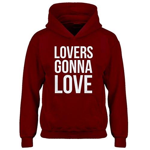 Kids Hoodie Lovers Gonna Love Medium Red Hoodie by Indica Plateau (Image #5)